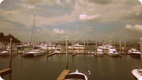 巴拿马湾小游艇船坞 库存照片