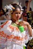 巴拿马的传统舞蹈家 免版税库存照片