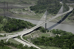 巴拿马的百年桥梁 免版税库存图片