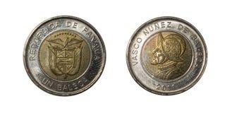 巴拿马硬币 免版税库存照片