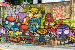 巴拿马街艺术 免版税库存照片