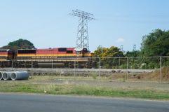 巴拿马运河铁路 免版税库存照片