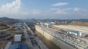 巴拿马运河01 库存照片