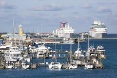 拿骚小游艇船坞 免版税库存照片
