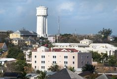 拿骚街市水塔 免版税库存照片