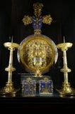 拿破仑三世金子被镀的十字架 库存图片