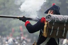 拿破仑似的战士 免版税库存照片
