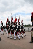 拿破仑似的游行,红葡萄酒,法国 库存照片