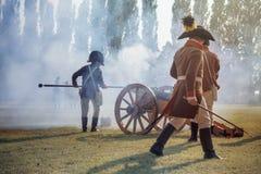 拿破仑式的战争再制定 库存照片