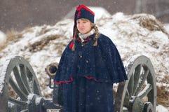 拿破仑式的战争妇女 免版税库存图片