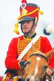 拿破仑式的战争战士- reenactor 库存图片