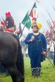 拿破仑式的战争战士- reenactors 库存图片
