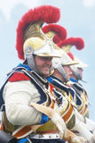 拿破仑式的战争战士- reenactors 免版税库存图片