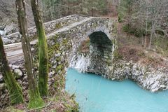 拿破仑桥梁在斯洛文尼亚 免版税库存图片