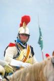 从拿破仑的军团的胸甲骑兵在Borodino 免版税库存图片