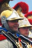 从拿破仑的军团的胸甲骑兵在Borodino 库存照片