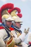 从拿破仑的军团的胸甲骑兵在Borodino 免版税库存照片
