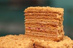 拿破仑蛋糕 免版税库存照片