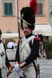 拿破仑` s到来的200th周年在费拉约港,厄尔巴岛 免版税库存图片