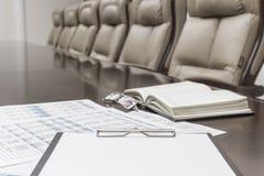 主持会议会议室表 免版税库存图片