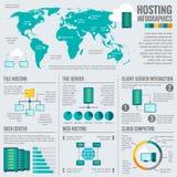 主持全世界infographic海报的文件 免版税库存图片