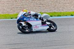 持异议者MotoGP的125cc的Viñales飞行员 库存图片