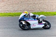 持异议者MotoGP的125cc的Viñales飞行员 免版税图库摄影