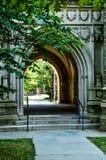 持有人霍尔-普林斯顿大学入口  免版税库存图片