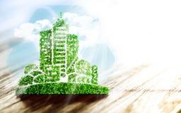 持续都市发展 向量例证