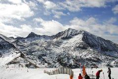 挂接手段滑雪 库存照片