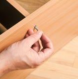 挂接木家具的木匠 库存照片
