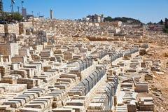 挂接的犹太墓地 库存照片