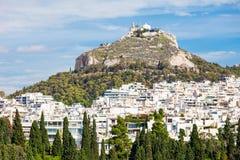 挂接Lycabettus在雅典 免版税图库摄影