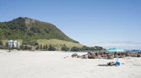 挂接Maunganui,新西兰。 库存照片