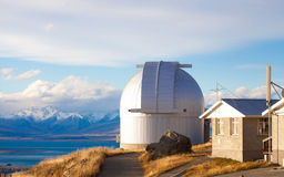 挂接Mt的约翰NZ约翰的观测所 免版税库存图片