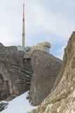 挂接saentis瑞士顶层 免版税库存照片