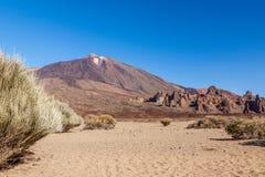 挂接Teide,特内里费岛,西班牙。 免版税库存照片