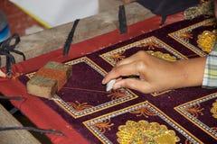 挂毯缅甸 免版税图库摄影