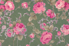 挂毯葡萄酒样式开花织品样式背景 库存图片