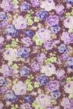挂毯葡萄酒样式开花织品样式背景 库存照片