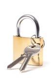 挂锁和钥匙 库存图片