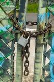 挂锁和链子 库存图片