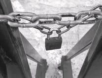挂锁和链子 库存照片