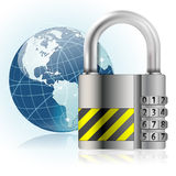 挂锁安全性 库存照片