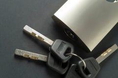 挂锁安全 免版税库存图片