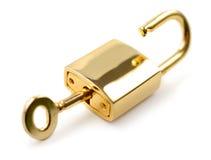 挂锁开锁了 免版税图库摄影