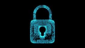 挂锁网络安全概念 库存例证