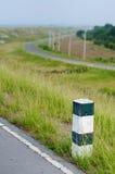 指南岗位路旁在泰国 库存图片