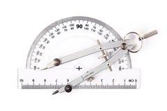 指南针分度器 免版税图库摄影