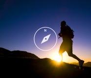 指南针方向航海冒险仪器概念 免版税库存图片